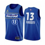 Maglia All Star 2021 Brooklyn Nets James Harden #13 Blu