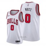 Maglia Chicago Bulls Coby White #0 Association 2019-20 Bianco