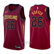 Maglia Cleveland Cavaliers Kyle Korver #26 Icon 2017-18 Rosso