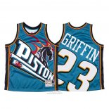 Maglia Detroit Pistons Blake Griffin #23 Mitchell & Ness Big Face Blu