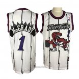 Maglia Toronto Raptors Tracy McGrady #1 Throwback Bianco