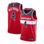 Maglia Washington Wizards Russell Westbrook #4 Icon 2020-21 Rosso