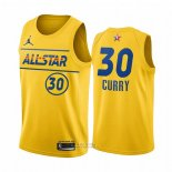 Maglia All Star 2021 Golden State Warriors Stephen Curry #30 Or