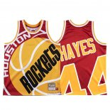 Maglia Houston Rockets Elvin Hayes #44 Mitchell & Ness Big Face Rosso