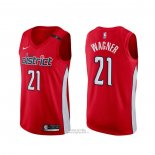 Maglia Washington Wizards Moritz Wagner #21 Earned Rosso