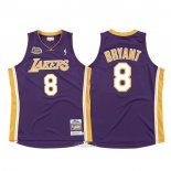 Maglia Los Angeles Lakers Kobe Bryant #8 2000-01 Finale Viola