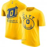 Maglia Manica Corta D'Angelo Russel Golden State Warriors Giallo The City