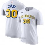 Maglia Manica Corta Stephen Curry Golden State Warriors Bianco San Francisco