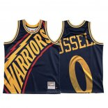 Maglia Golden State Warriors D'angelo Russell #0 Mitchell & Ness Big Face Blu