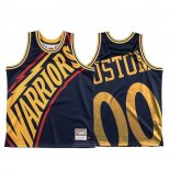 Maglia Golden State Warriors Personalizzate Mitchell & Ness Big Face Blu