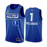 Maglia All Star 2021 Orleans Pelicans Zion Williamson #1 Blu