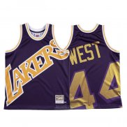 Maglia Los Angeles Lakers Jerry West #44 Mitchell & Ness Big Face Viola