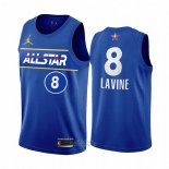 Maglia All Star 2021 Chicago Bulls Zach Lavine #8 Blu