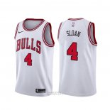 Maglia Chicago Bulls Jerry Sloan #4 Association Bianco