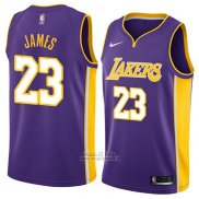 Maglia Los Angeles Lakers Lebron James #23 Statement 2018 Viola