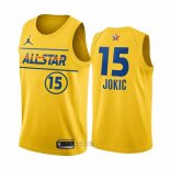 Maglia All Star 2021 Denver Nuggets Nikola Jokic #15 Or