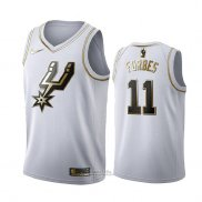 Maglia Golden Edition San Antonio Spurs Bryn Forbes #11 Bianco