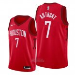 Maglia Houston Rockets Carmelo Anthony #7 Earned Edition Rosso