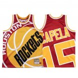 Maglia Houston Rockets Clint Capela #15 Mitchell & Ness Big Face Rosso