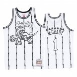 Maglia Toronto Raptors Tracy Mcgrady #1 Concord Collection Hardwood Classics Bianco Nero