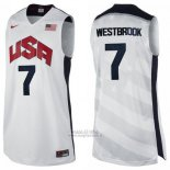 Maglia USA 2012 Russell Westbrook #7 Bianco