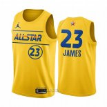 Maglia All Star 2021 Los Angeles Lakers Lebron James #23 Or