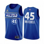Maglia All Star 2021 Utah Jazz Donovan Mitchell #45 Blu
