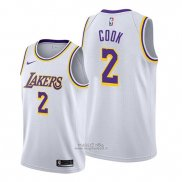 Maglia Los Angeles Lakers Quinn Cook #2 Association Bianco