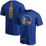 Maglia Manica Corta D'Angelo Russell Golden State Warriors 2019-20 Blu2