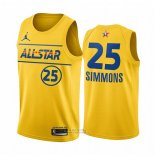Maglia All Star 2021 Philadelphia 76ers Ben Simmons #25 Or