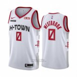 Maglia Houston Rockets Russell Westbrook #0 Citta 2019-20 Bianco