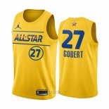 Maglia All Star 2021 Utah Jazz Rudy Gobert #27 Or