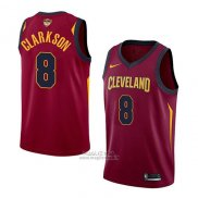 Maglia Cleveland Cavaliers Jordan Clarkson #8 Icon 2017-18 Finals Bound Rosso