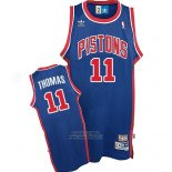 Maglia Detroit Pistons Isiah Thomas #11 Throwback Blu