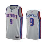 Maglia Detroit Pistons Langston Galloway #9 Statement 2020-21 Grigio