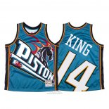 Maglia Detroit Pistons Louis King #14 Mitchell & Ness Big Face Blu