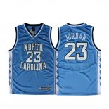 Maglia NCAA North Carolina Tar Heels Michael Jordan #23 Blu