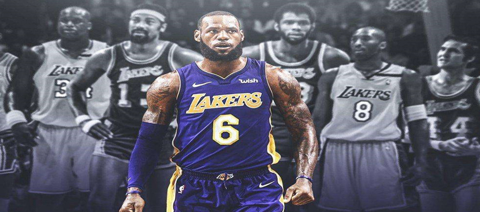 Magliette NBA Los Angeles Lakers Poco Prezzo